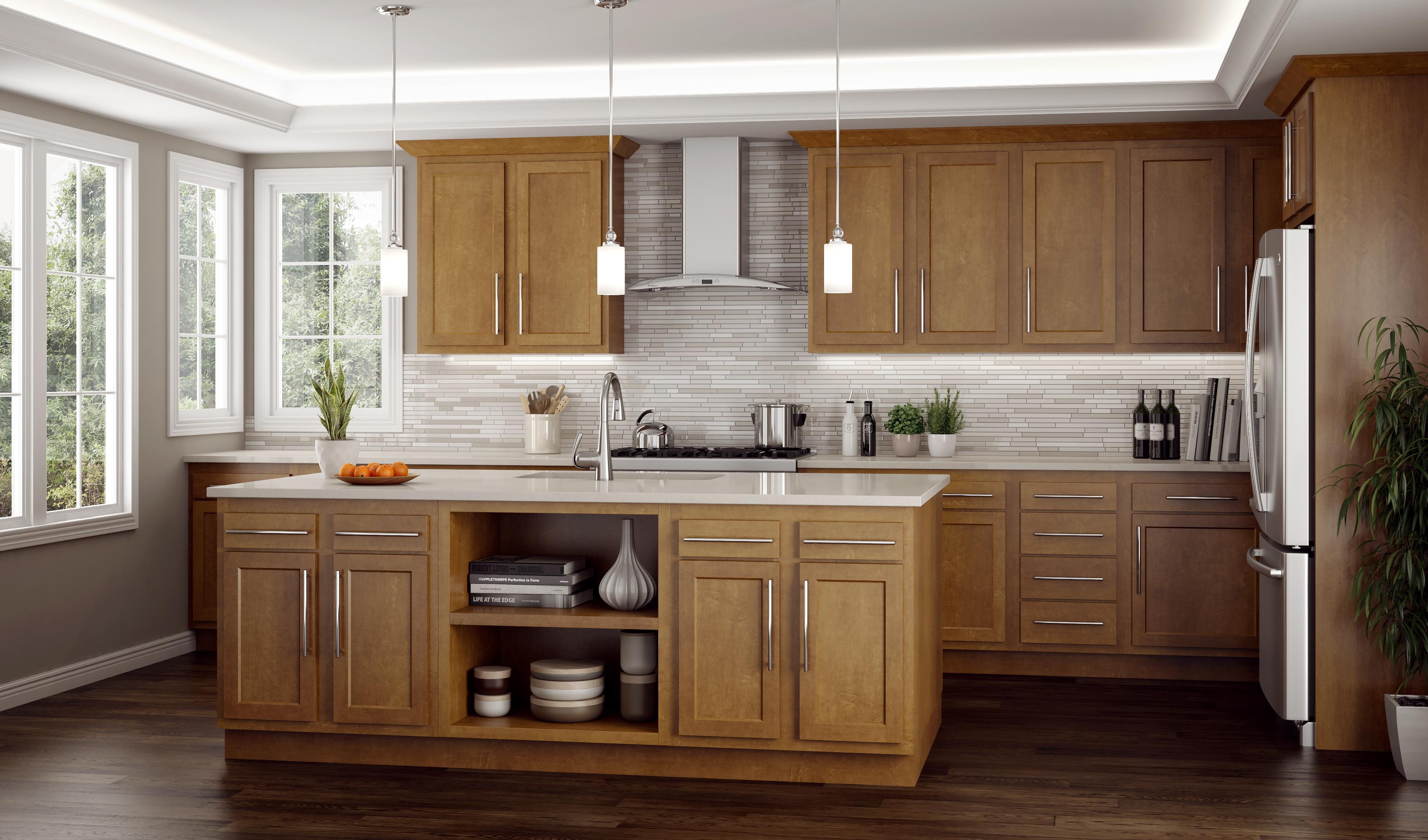 Warmwood Kitchen Cabinets by Kitchen Kompact